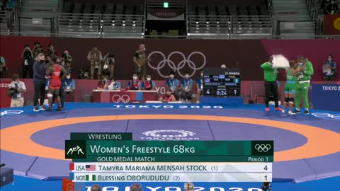 USA WRESTLING Mensah-Stock becomes first U.S. black woman to win wrestling gold   Tokyo Olympics