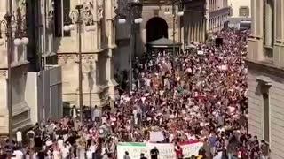 Milan, Italy 7-24-21: Lockdown/Vaccine Passport Protests