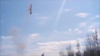 Russian army rocket launch bummer