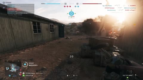 Barracks clearing with sticky dynamite