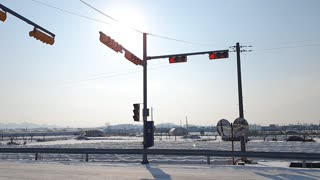 After snowing with Traffic light