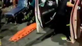 Galería: Con fuerte accidente de tránsito inició de toque de queda en Bucaramanga
