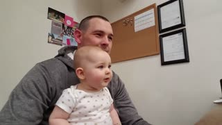 TRY NOT TO SMILE I DARE YOU. Cute Baby Reaction To Elmo will melt your heart