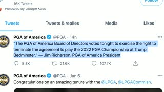 Golf rebukes, shuns Trump after Capitol riot