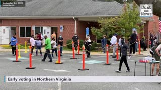 Early Virginia voters explain why they voted before watching first presidential debate on Tuesday