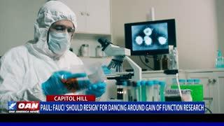 Sen. Paul: Fauci 'should resign' for dancing around gain of function research