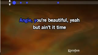 karaoke angie the rolling stones