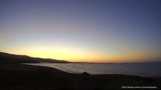 An Irish sunrise over the atlantic Ocean