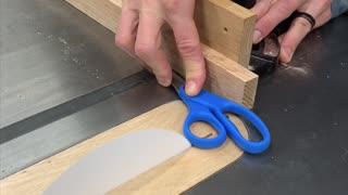 Man Puts Paper Versus Scissors to the Test