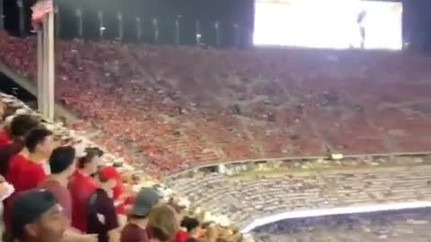 """WATCH: A """"F**k Joe Biden"""" Chant Breaks Out At College Football Game"""