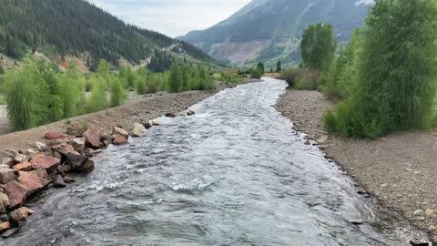 Beautiful river in Silverton Colorado.