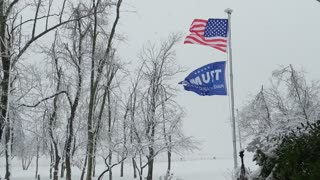 Real America with snow!