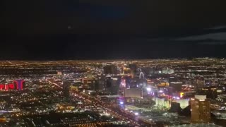 Flying over the Las Vegas Strip