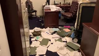 Ransacked Senate Offices After The Mayhem