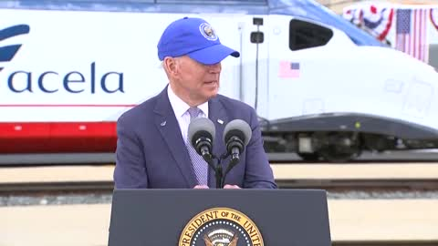Biden Goes on Nonsensical Ramble About Amtrack Budget
