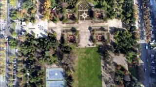 Aerial view at Parque Araucano in Santiago, Chile
