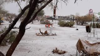 Snow in Three Points, Arizona