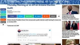 Arizona Election audit for Maricopa County - hearing Thrusday 10AM