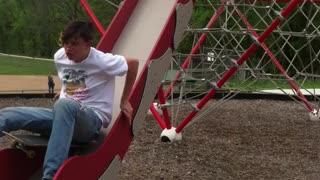 skate board slide fail