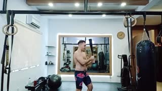 Clubbell rotational strength training