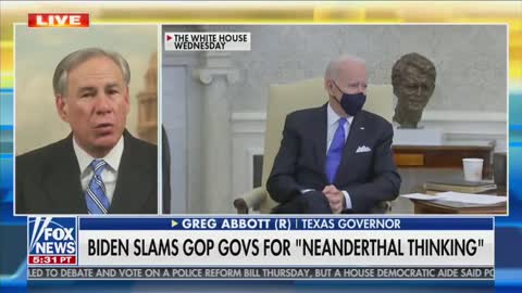 Joe Biden Calls Texas Governor a Neanderthal and His Response Says it All