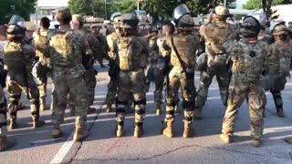 Georgia National Guard, protesters dance the 'Macarena' in Atlanta