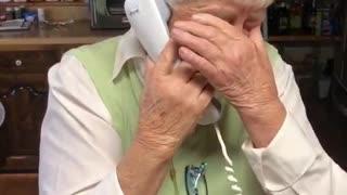 Elderly Woman Celebrates Biden's PresElderly Woman Celebrates Biden's Presidential Winidential Win