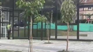 Menores juegan fútbol en pleno aislamiento por COVID-19 en Bucaramanga