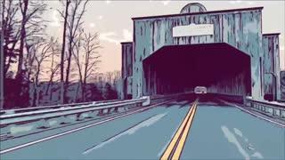 Ride at 90 m.p.h. through Smolen Gulf Covered Bridge Ashtabula Ohio Comic Style