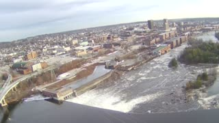 Drone Flight: Amoskeag Falls in Manchester, NH