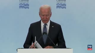 Biden Stumbles Through G-7 Speech