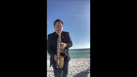 Happy Birthday Song Saxophone Cover Beach Performance