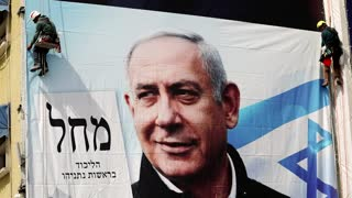 Thousands protest Israel's PM ahead of election
