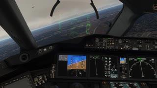 787 Engine Failure Landing