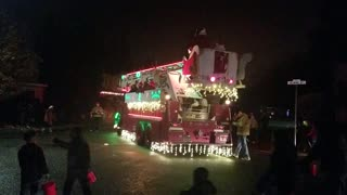 Fire truck Santa Claus