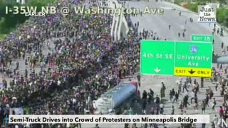 Truck driver arrested in Minneapolis after driving through protest on freeway