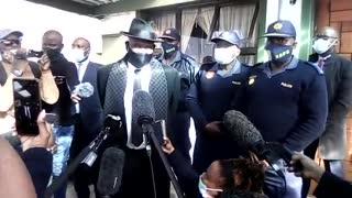Police Minister Bheki Cele visited massacre site in Gugulethu