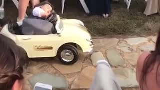Kids add some comedy to a wedding! - Ring Bearer Fail
