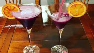 Martini Friday fresh squeezed blood oranges