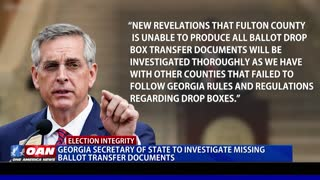 Ga. Secy. Of State to investigate missing ballot transfer documents
