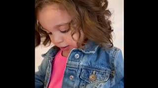 Child model adorably confused by her pocket