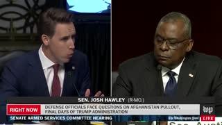 "Hawley BLASTS Austin On Afghanistan: ""You Have Left Americans Behind"""