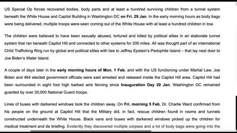 Children Rescued From DUMBs in DC - Two Presidents? - Let My People Know!!