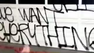 Nancy pelosi's homeless vandalized