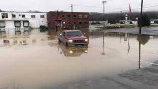 Flooded Parking Lot