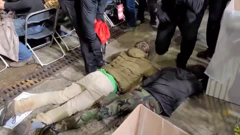 carried out by police at a Trump rally in Duluth Minnesota