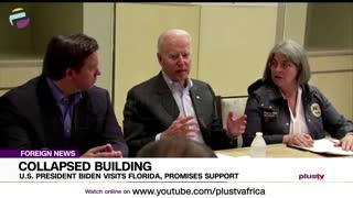 US President Biden visits Florida, promises support.