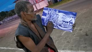 2021 Amazing Street Artist From Suriname, makes quick art