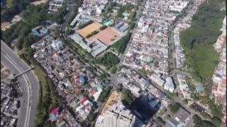 Desde un drone se ve cómo avanza el paro de transportadores en Bucaramanga