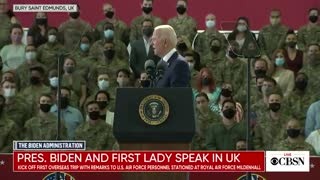 """Biden to soldiers: The greatest threat you're facing is """"global warming"""""""